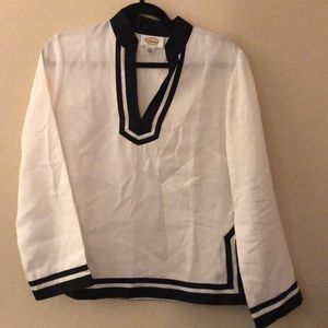 Women's Talbots Petites 100% linen casual top